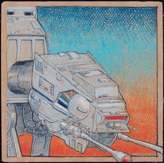 """Finally my At-At print for sale on Etsy - limited edition and signed. 24""""x24"""""""