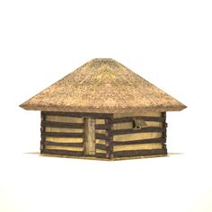 free medieval house 3d model