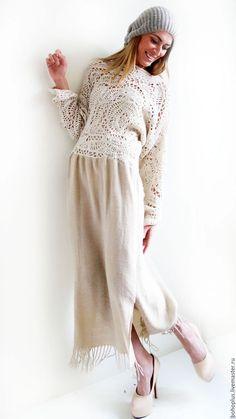 """Dresses handmade. Livemaster - handmade. Buy Платье в стиле бохо шик """" Евдокия 2"""".Бохо, шерсть с шёлком"""