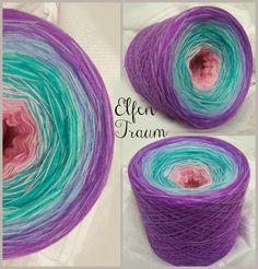 Elfentraum: Hochbauschacryl: 6 Farben: altrosa rosa oceangrün eisblau orchid flieder