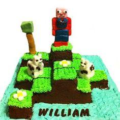 Minecraft birthday cake idea