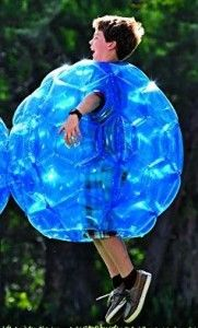 """Buddy Bounce Outdoor Play Ball Inflatable Blue 36"""""""