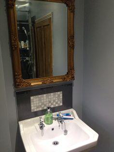 Ornate gold mirror for the bathroom! Mirror, Bathroom, Gold, House, Ideas, Washroom, Home, Mirrors, Full Bath
