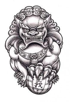 Tattoo Lion Traditional Foo Dog 32 Ideas For 2019 Kunst Tattoos, Neue Tattoos, Tattoos Skull, Dog Tattoos, Body Art Tattoos, Tribal Tattoos, Sleeve Tattoos, Geometric Lion Tattoo, Tatoos