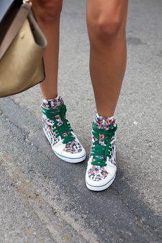 printed kicks.