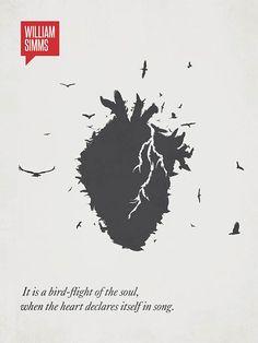 É o vôo de pássaro da alma, quando o coração se declara em uma canção – William Simms