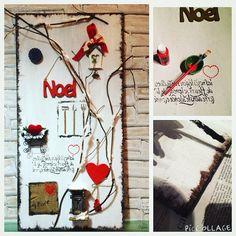 """Pannello in legno decorato """" home decor""""  Xmas time - By me"""