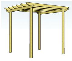 Want to build a simple pergola over my back deck.