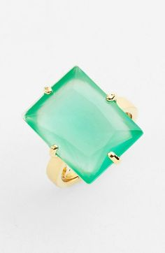 kate spade new york 'hancock park' adjustable cocktail ring (Nordstrom Exclusive) Girls Accessories, Jewelry Accessories, Fashion Accessories, Fashion Jewelry, Boho Chic, Jewel Colors, Turquoise, Aqua, Cocktail Rings