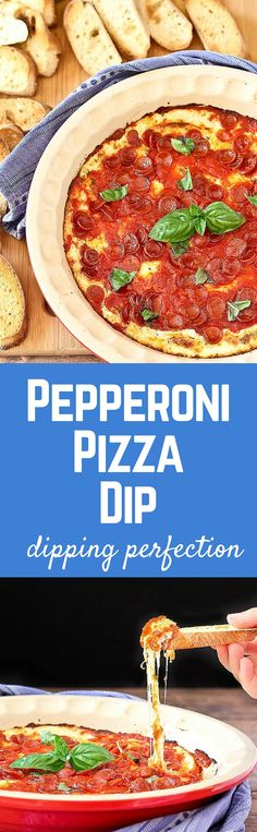 Imagine irresistible pepperoni pizza in dip form. I can't think of many things better than that. This pepperoni pizza dip will be a hit at all your parties. Get the easy appetizer recipe on RachelCooks.com!