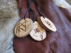 Custom Rune Pendant Pagan Magical Jewelry Norse by Bardistry, $8.99