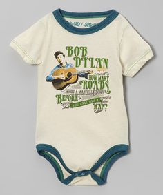 Take a look at this Cream 'Bob Dylan' Bodysuit - Infant by Rowdy Sprout on #zulily today!