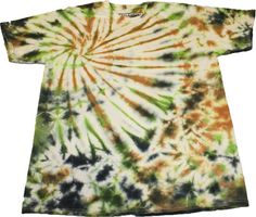 Green Brown & Black Camo TieDye handmade tshirt Tee by SteezyWorkz, $17.00