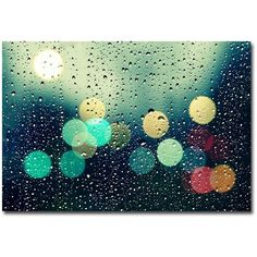 Rainy City Canvas Wall Art (175 AUD) ❤ liked on Polyvore featuring home, home decor, wall art, backgrounds, horizontal wall art, canvas wall art, home wall decor and canvas home decor