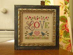 cross stitch - little love - lizzie kate