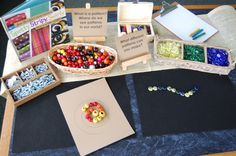 Reggio-inspired mathematics: patterning kit Here's a post with a wealth of ideas for setting up a patterning kit or station. Patterning Kindergarten, Kindergarten Inquiry, Preschool Math, Fun Math, Teaching Math, Math Activities, Preschool Ideas, Teaching Ideas, Reggio Inspired Classrooms
