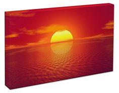 RED/ORANGE SUN SET BOX CANVAS ART PICTURE PRINT - A1/A2 (A2(20x16 inch)) Cheryl Monaghan http://www.amazon.co.uk/dp/B00VYW09TK/ref=cm_sw_r_pi_dp_hGOlvb0VRN2Q1