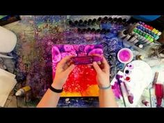 Alcohol ink on canvas tutorial. Part 1 of 2. - YouTube