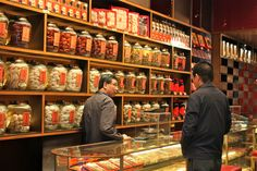 Kowloon where there are many traditional Chinese medicine shops selling all sorts of things.