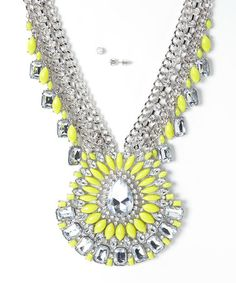 Wear this with attitude! The princess has arrived. Neon Yellow Pendant Necklace & Earrings by Sorta Southern Boutique. What do your colors mean? http://www.destinationweddings.travel/default.asp?sid=34790&pid=58459 #allweddingsallowed #allcouplesallowed