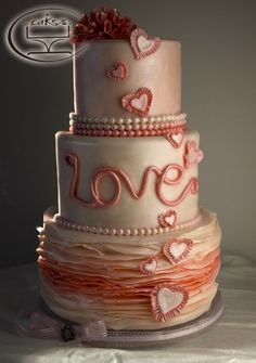 Beautiful Wedding Cake by KCCakes