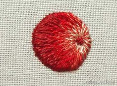 In Lesson Four, we are looking at how to embroider a circle in long and short stitch, in such a way that it looks shaded. Now, there are a couple different ways to go about this, depending on the type of shaded circle you are trying to achieve. For me, personally, when I'm looking at needle painting, I'm looking at achieving a realistic effect with the long and short stitch. But for others, the two-dimensional flat effect is what they want.