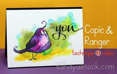Copic Markers learning from Ranger (Crazy birds!) (via Bloglovin.com )