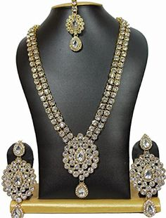 Indian Bollywood Ethnic Special Most Kundan Long Party Wear Necklace Set Kundan Jewellery Set, Indian Jewelry Sets, Women's Jewelry Sets, Kundan Set, Women Jewelry, Girls Jewelry, Jewelry Art, Jewelry Accessories, Fashion Jewelry
