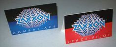 On Sale.....Set Of 2 ZAXXON By SEGA 1982 VIDEO ARCADE GAME NOS MINI SALES FLYERS