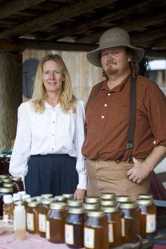 Artisans selling honey at Cracker Country | Florida State Fair
