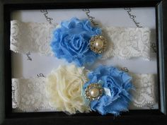 Wedding Garter in an offwhite stretch lace by TheBridalGarterShop Garter Wedding, Wedding Garters, Chiffon Flowers, Stretch Lace, Bridal Accessories, Off White, Ivory, Trending Outfits, Unique Jewelry
