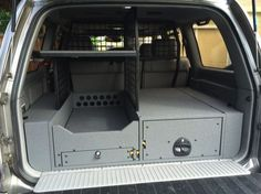 SUV storage system It's beautiful! Jeep Jk, Jeep Truck, Jeep Mods, Truck Mods, Fj Cruiser, Toyota Land Cruiser, Truck Bed Storage, Vehicle Storage, Land Rover Discovery