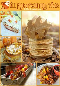 DIY:: 25 Fall Entertaining Ideas including yummy recipes and fall decor!