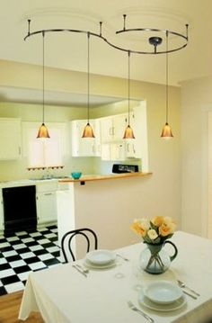 11 Stunning Photos of Kitchen Track Lighting | Family kitchen, Real ...