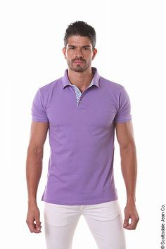 Purple polo shirt for men by Jared lang New Mens Fashion, Holiday Fashion, Men's Fashion, Purple Outfits, Casual Outfits, Men's Collection, Summer Collection, Purple Polo Shirts, Outfit Grid