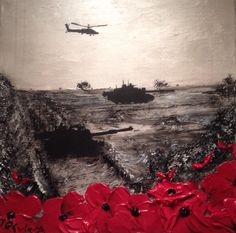 """""""Rise To The Challenge"""" By Jacqueline Hurley War Poppy Collection Port Out, Starboard Home POSH Original Art Artwork for Poppy Appeal Poppy Day Display Remembrance Day Images, Remembrance Day Poppy, Remembrance Tattoos, Poppy Field Painting, Poppies Painting, Armistice Day, Military Tattoos, A Level Art, Military Art"""