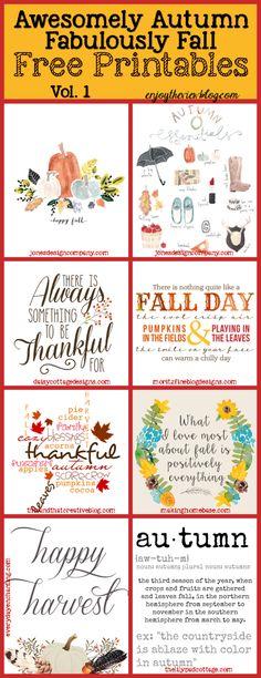 Free Fabulously Fall Printables!