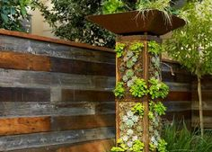 vertical garden pillar