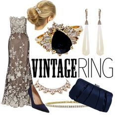 Vintage Jewelry by sc3302 on Polyvore featuring Notte by Marchesa, Manolo Blahnik, Nina, SUSAN FOSTER, Forever 21, BERRICLE, RTR Bridal Accessories, vintage and vintagejewelry