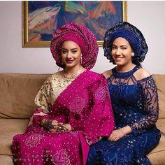 """Nigerian bride, African bride Aso Ebi Styles (@asoebibella) on Instagram: """"Dashing bride & her #AsoEbiBella ✨  @thecannonphotography  MUA  @ronaldthe7th"""""""