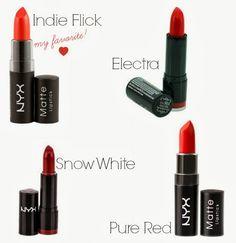 vintage lipstick colors from NYX Cosmetics via Va Voom Vintage