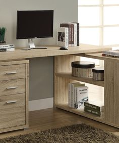 Look at this Natural Corner Computer Desk on #zulily today!