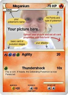 Design and print your own pokemon card - Pokémon card maker - Custom black and white cards