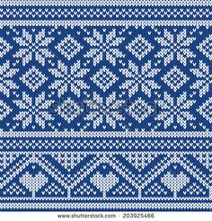 Seamless knitted pattern  - stock vector