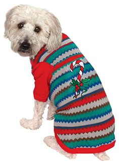 Rubies Costume Ugly Sweater with Candy Cane Pet Costume XXLarge ** Be sure to check out this awesome product.