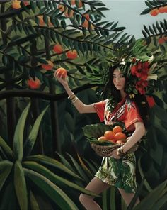 """""""Welcome to the Jungle"""": Henri Rousseau Homage by An Jisup for Vogue Girl Korea 
