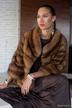 The whole thing of clothes is insane. And if you saw those two jackets walking down the street, you probably wouldn't know which was which. Fur Fashion, Winter Fashion, Fashion Outfits, Womens Fashion, Fashion Trends, Sable Fur Coat, Street Looks, Fabulous Furs, Fur Stole