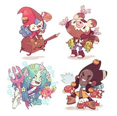 chest monkie fish bugs by Bisparulz on DeviantArt Character Design Animation, Character Design References, Character Drawing, Character Illustration, Character Concept, Concept Art, Illustration Art, Cute Characters, Cartoon Characters