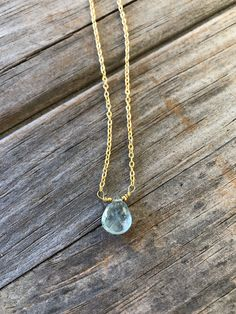 Gold Teardrop Aquamarine Necklace, Wire Wrapped Aquamarine, Gold necklace, Aqua Necklace, Gift for Mom, Gift for Her by LunaSavita on Etsy https://www.etsy.com/listing/594650177/gold-teardrop-aquamarine-necklace-wire