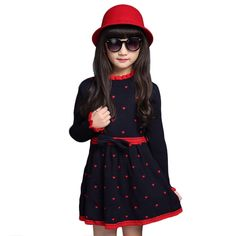 24.99$  Buy here - http://ali8mn.shopchina.info/go.php?t=32737003962 - Slim Children Knitted Sweater Girls Princess Dress With macrame Nifty And Lovely  Winter Clothing For Kids  #aliexpresschina
